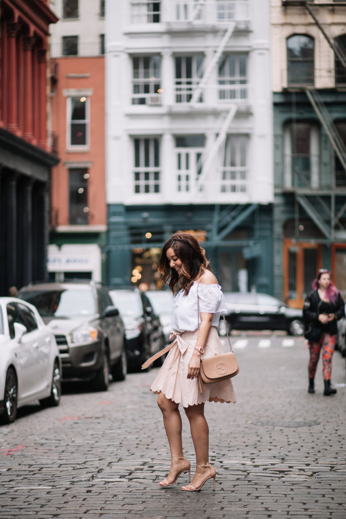 Blush Scallop Skirt