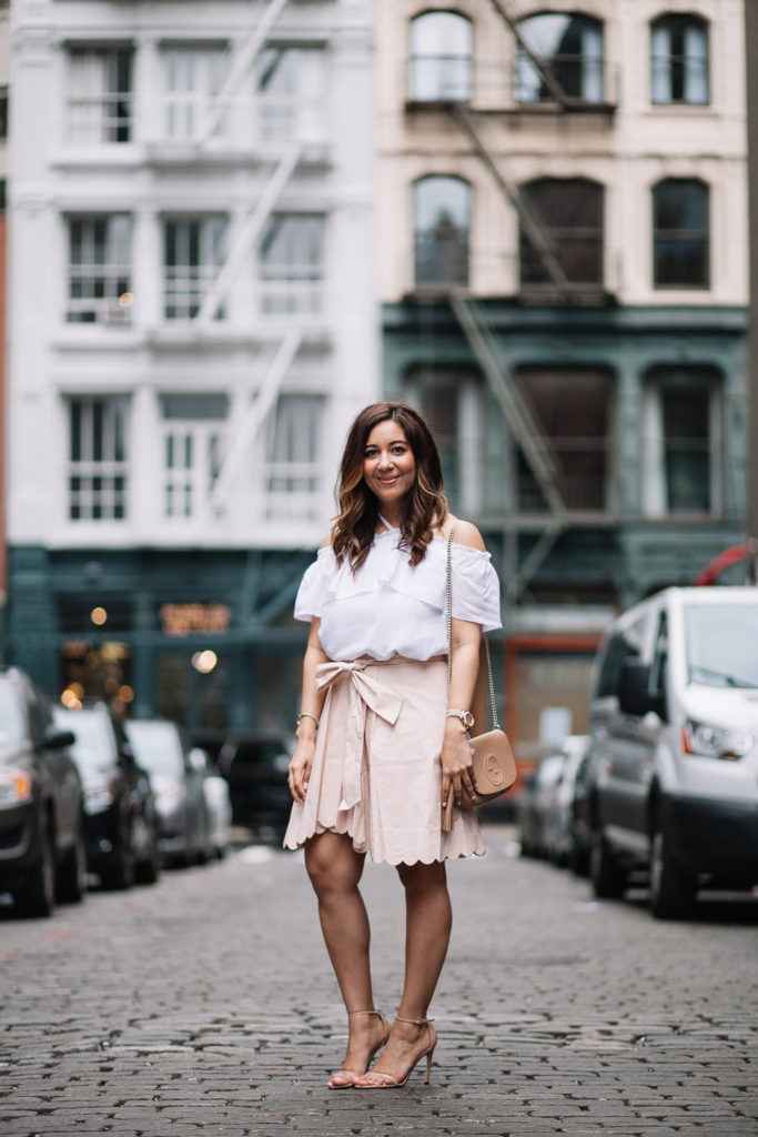Blush Scallop Skirt by Club Monaco