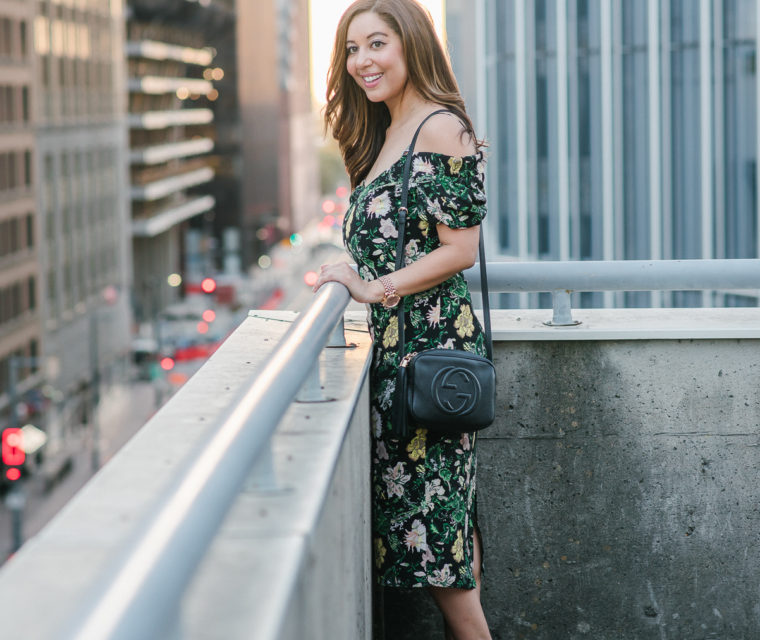 Floral Midi Dress // The Hemliner