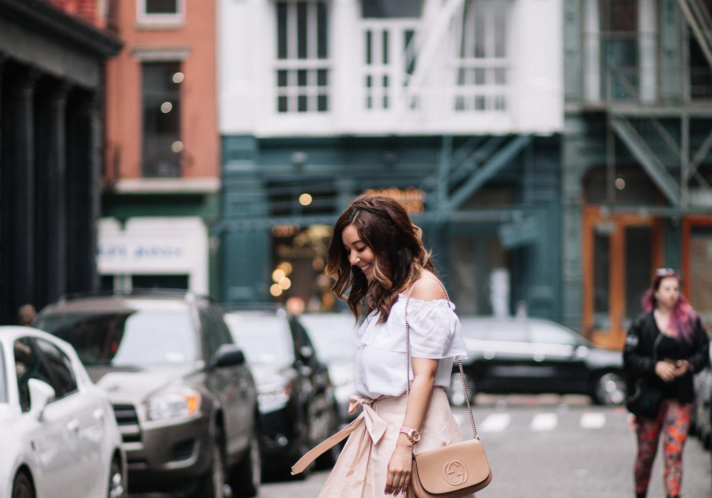 Blush Scallop Skirt